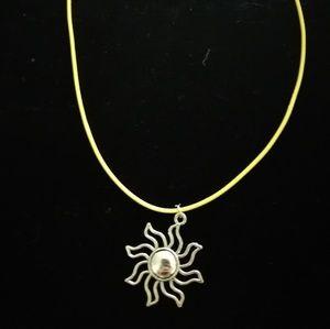 Silver Sunshine necklace.